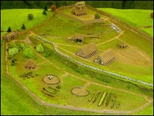 Model of Duncarron Fort