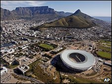 Soccer stadium in Cape Town
