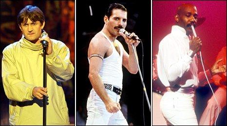 Paul Heaton, Freddie Mercury and Errol Brown