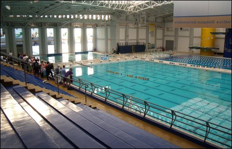 The Olympic swimming pool that Arthur will be doing the swim part of his challenge in