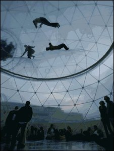 Tomas Saraceno installation, Hayward Gallery