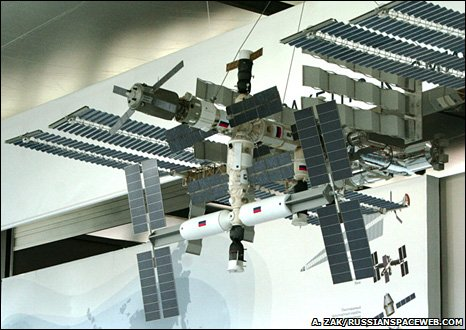 Model of ISS (A. Zak/Russianspaceweb.com)