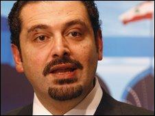 Lebanese Prime Minister-designate Saad Hariri