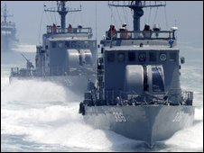 South Korean naval patrol boats (archive picture)