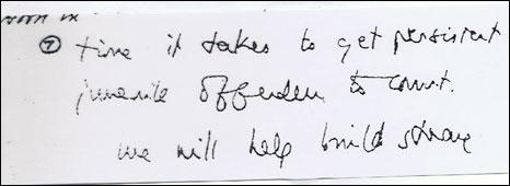 Tony Blair's 'to-do' list in 1997