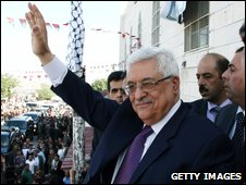 Mahmoud Abbas in Hebron (8 November 2009)