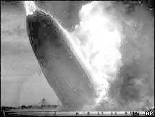 The Hindenburg zeppelin