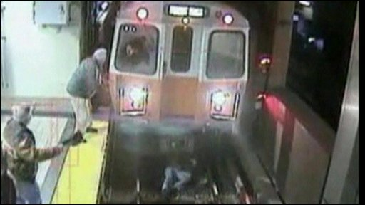 Woman survives after falling on subway tracks