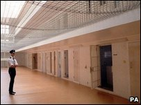 Interior of Whitemoor prison in Cambridgeshire