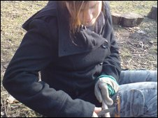 Girl at Forest School