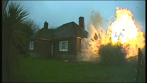 Bungalow gets blown up