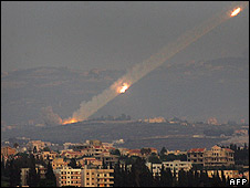 Rocket fired from Tyre in Lebanon towards Israel (6.08.06)