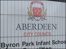Byron Park infant school sign