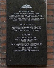 The memorial plaque