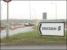 The entrance to the Ericsson site in Coventry