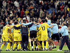 Alcorcon celebrate their famous win