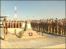 Memorial service at Camp Bastion, Afghanistan