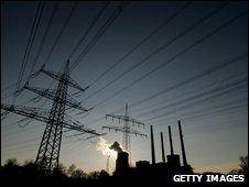 E.On power grid near Frankfurt