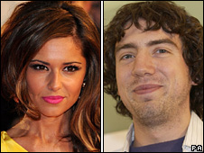 Cheryl Cole and Gary Lightbody of Snow Patrol
