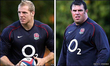 James Haskell (left) and Duncan Bell