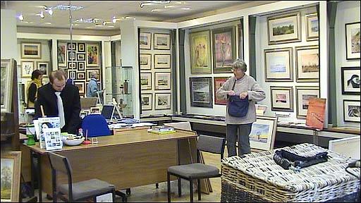 Art gallery in Holt, Norfolk