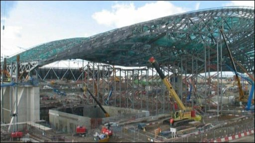 Roof of Olympic Aquatic Centre