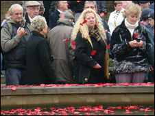 Swansea tributes to war dead