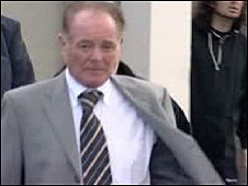 Bruce Jones leaving court at an earlier hearing