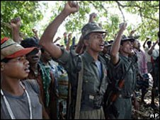 Maoist rebels in Chhattisgarh
