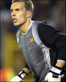 Robert Enke at Barcelona
