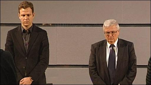 Oliver Bierhoff & German FA president Theo Zwanzigger