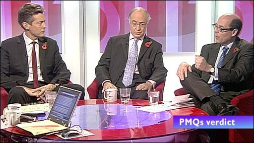 Ben Bradshaw, Michael Howard and Nick Robinson