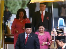 The Indonesian and Malaysian leaders