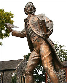 Thomas Paine statue in Thetford