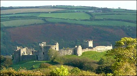 Llansteffan Castle, by Alan Jones of Brighton.