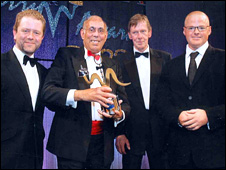 Vijay Bhagotra at the British Curry Awards in 2008
