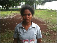 Domestic servant Shirley who ran away  from her Malaysian employer