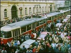 Prague demonstration for reform - 1989