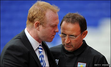 Birmingham boss Alex McLeish and Aston Villa's Martin O'Neill
