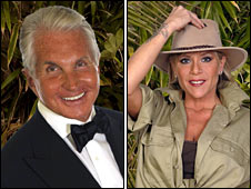 George Hamilton and Samantha Fox