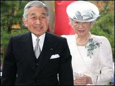 Emperor Akihito and wife