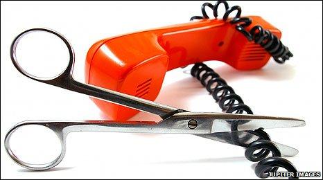 Phone cord cut