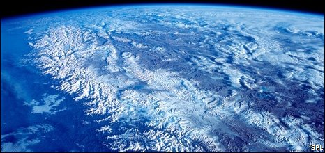 Satellite image of Himalayas (SPL)