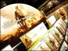 Modern Warfare 2 on shop shelves