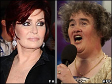 Sharon Osbourne and Susan Boyle