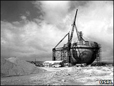 The Dounreay Dome under construction in 1950s