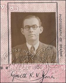 Jones's passport photograph