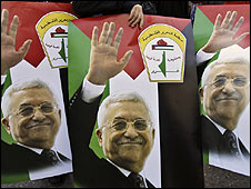 Posters of Mahmoud Abbas, West Bank