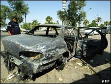 Aftermath of shootings in Nisoor Square (24 September 2007)