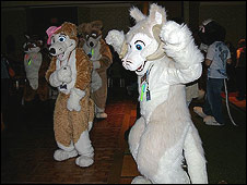 Furries at a disco